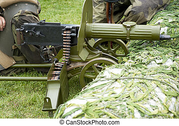 Maxim gun - Old Powerful Military machine Gun - Maxim gun