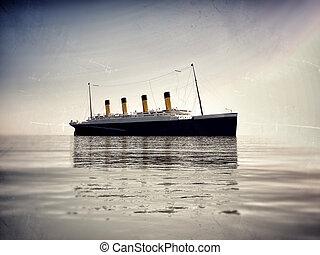 titanic - ocean liner titanic in the sea