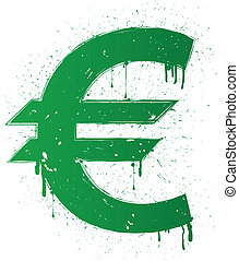 euro sign - Vector illustration of dollar isolated on white...