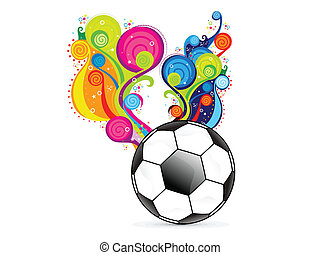 abstract colorful football explode