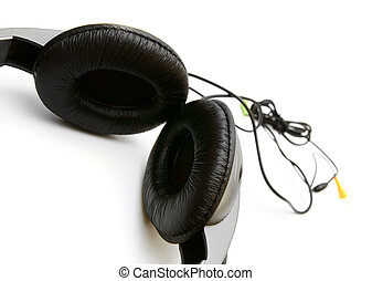 Ear-phones. On a white background.