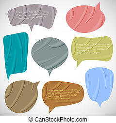 Vector set of silk speech bubbles
