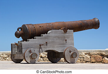 Cannon - Ancient cannon on wheels