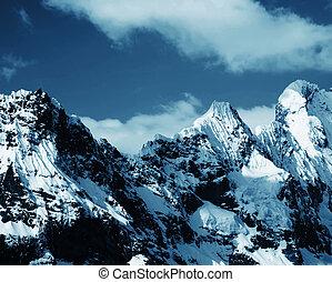 High Cordilleras mountain - Snowcovered high mountain...