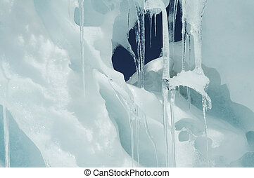 Icicle - Winter ice in the mountain
