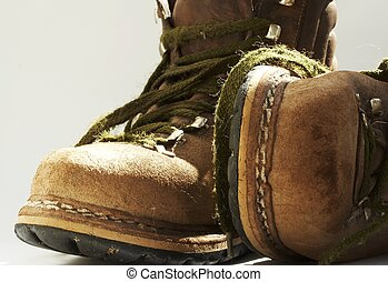 Old boots - Brown old boots