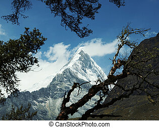 Cordilleras mountain - Snowcovered Cordilleras mountain and...
