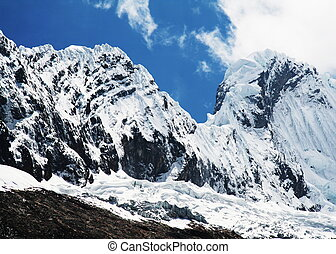 High Cordilleras mountain - Snowcovered high mountain in...