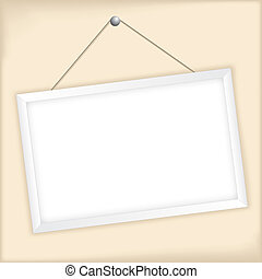 Customizable vector picture frame on light background