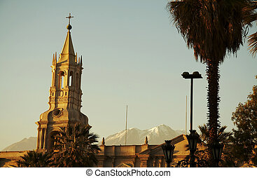 Arequipa city - church in the Arequipa,Peru