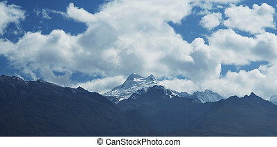 High mountain Cordilleras - Mount Huascaran in Cordilleras