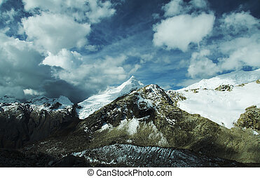 Clouds in Cordilleras mountain - Mountain Cordilleras and...