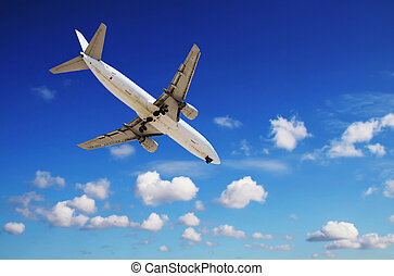 Aircraft - jet approaching airport
