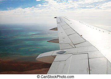 In aircraft - View from an aircraft