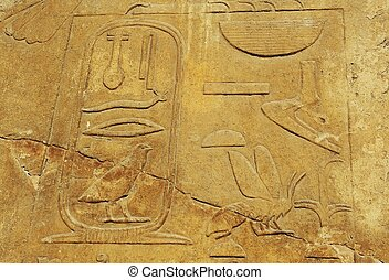 Egyptian statue - Hieroglyphics in Egyptian Museum