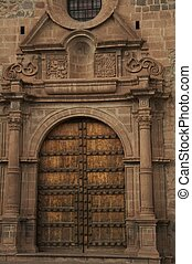 Caphedral door - church door in the Cuzco,Peru