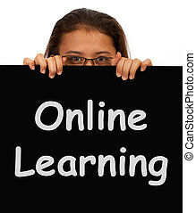 Online Learning Message Showing Web Learning - Online...