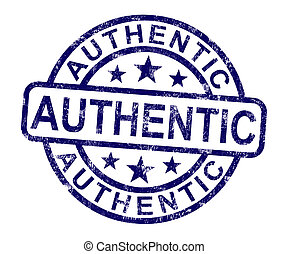 Authentic Stamp Showing Real Certified Product Not Fake