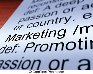 Marketing Definition Closeup Showing Promotion
