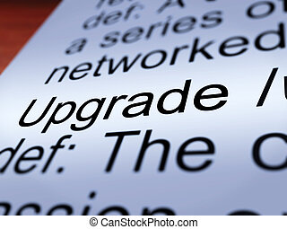 Upgrade Definition Closeup Showing Software Update - Upgrade...