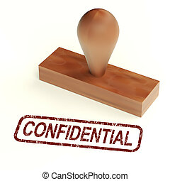 Confidential Rubber Stamp Showing Private Correspondence