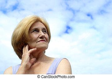 Beautiful Caucasian elderly woman