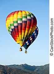Hot Air Balloons Over Colorado Mountains