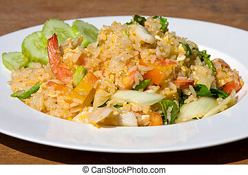 Seafood fried rice - Rice with seafood