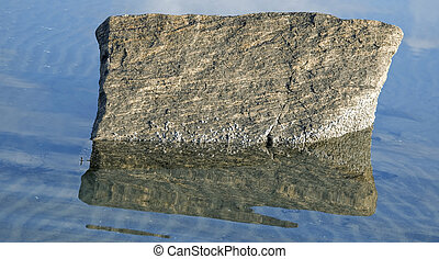 Reflection of rock