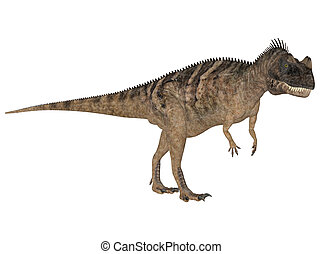 Ceratosaurus - Illustration of a Ceratosaurus (dinosaur...