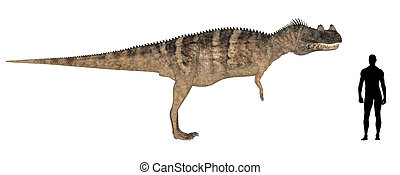 Ceratosaurus Size Comparison - Illustration of a comparison...