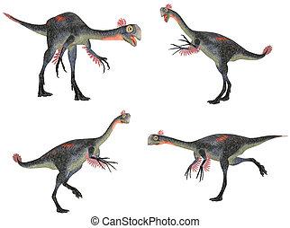 Gigantoraptor Pack - Illustration of a pack of four (4)...