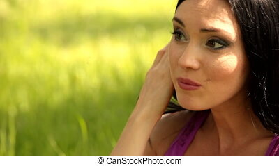 woman depressed - Beautiful woman looking depressed