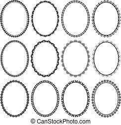 frames oval - set of frames oval
