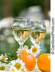 wine glasses - Close-up of wine glasses