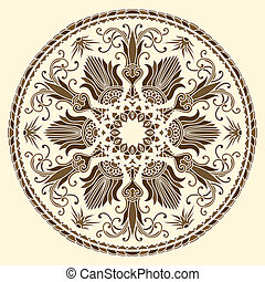 Vector ornament - Vector illustration with floral ornament...