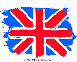 Flag of the United Kingdom British flag, vector illustration...