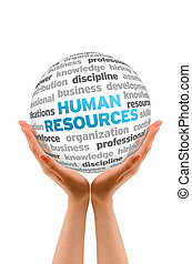 Human Resources - Hands holding a Human Resources Word...