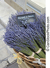 Lavender for sale on a local Provencal market