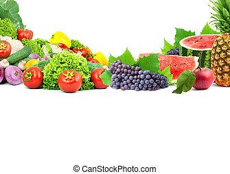 新鮮, 蔬菜, 水果