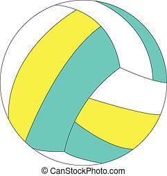 illustration of volleyball