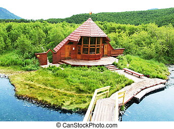 Wood house - Woods house in Kamchatkian reservation