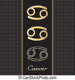 Cancer Gold Horoscope Symbols