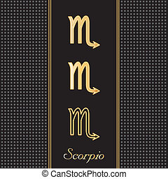 Scorpio Gold Horoscope Symbols