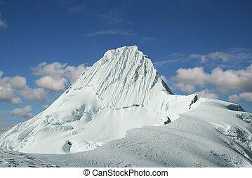 Summit Alpamayo - High summit Alpamayo in Cordilleras
