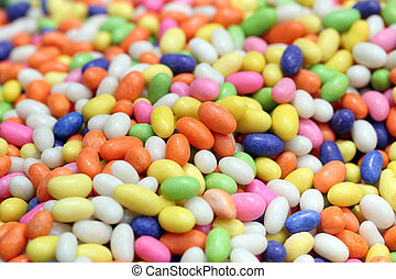 Colorful sweet candies(confections) in many colors -...