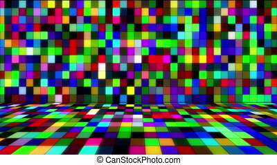 beaming multicolored squares music