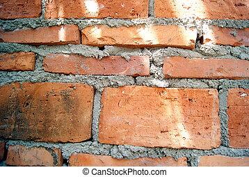 pared, ladrillo