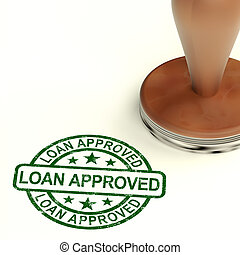 Loan Approved Stamp Showing Credit Agreement Ok