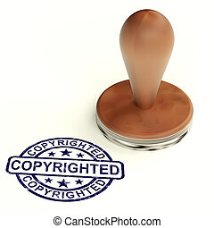 Copyrighted Stamp Showing Patent Or Trademarks - Copyrighted...